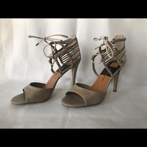 Dolce Vita Sand Timmy Lace Up Leather Heel